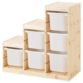 IKEA TROFAST (891.020.95)  Комод для игрушек, ящик белый