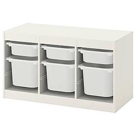IKEA TROFAST (692.284.73) Шкаф с контейнерами, белый, ящик белый