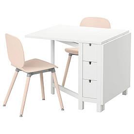 IKEA NORDEN / SVENBERTIL (791.305.03) Стол и 2 стула белые