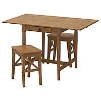IKEA INGATORP / INGOLF (191.944.18) Стол и 2 стола, пятно патины