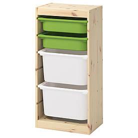 IKEA TROFAST (592.408.90) Шафа з контейнерами, ящик білий і зелений