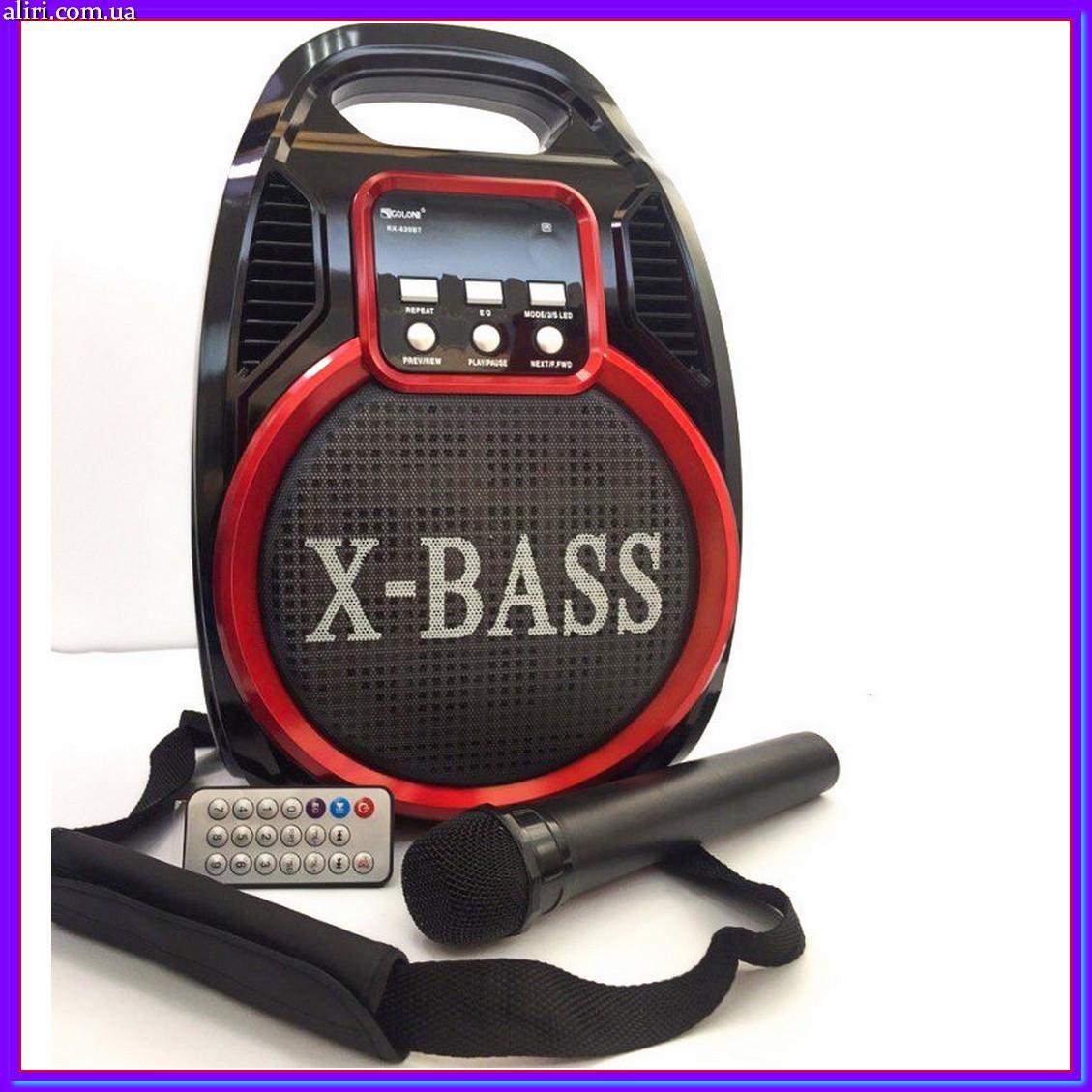 Портативная акустическая система Golon RX-820BT, колонка с радиомикрофоном