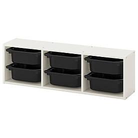 IKEA TROFAST (992.286.74) Настенный шкаф, белый, черный