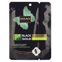 "Маска для лица и шеи ""От черных точек"" Dizao Black Gold Precious Essence Deep Sea Ink Algae Mask"