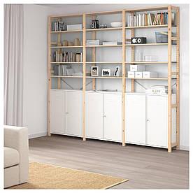 IKEA IVAR (392.499.81) 3 секції/шафа/стовпи, сосна, білий