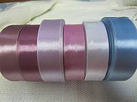 Лента атлас 2,5 см розово-сиреневая