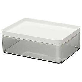 IKEA BROGRUND (203.461.52) Ящик-Коробка прозрачная серая, белая