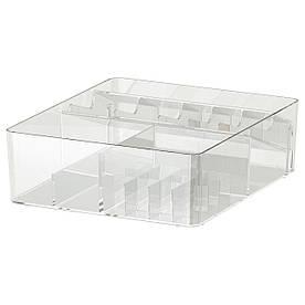 IKEA GODMORGON (104.002.67) Коробка с перегородками, прозрачная