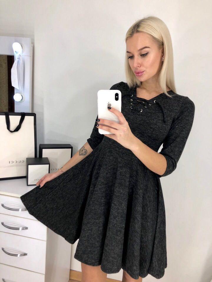 Молодежное стильное платье (в расцветках)