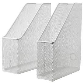 IKEA DOKUMENT (504.026.98) Підставка для журналів, 2 шт., Білий