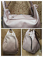Рюкзак- сумка женские стильная gucci эко кожа (розово-золотой) 38*28*19