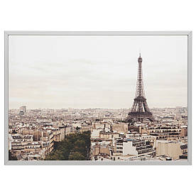 IKEA BJORKSTA (292.474.78) Картина с рамкой, Париж, серебро