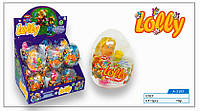 Яйцо прозрачное Куколки сюрприз+драже 12 шт./уп. Aras
