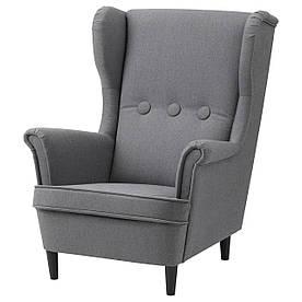 IKEA STRANDMON (703.925.42) Дитяче крісло, сірий Vissle
