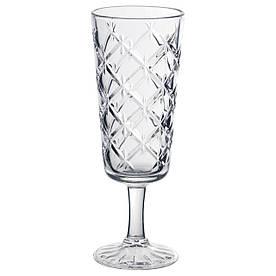 IKEA FLIMRA (503.193.26) Келих для шампанського., прозоре скло, візерунок