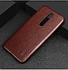 """NOKIA 5.1 Plus (X5) оригинальный кожаный противоударный чехол панель накладка бампер  натур. КОЖА """"IMKO, фото 5"""