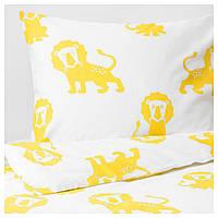 IKEA DJUNGELSKOG (303.937.27) Комплект постельного белья, Лью, желтый