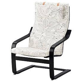 IKEA POANG (591.812.25) Крісло, чорний бриз,