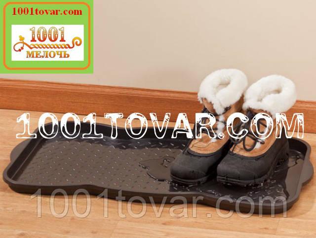 Многофункциональный пластиковый поддон (лоток, подставка) для обуви 76х39х3,3 см.
