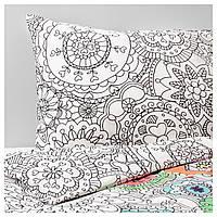 IKEA VANSKAPLIG (403.324.94) Комплект постельного белья, разноцветный
