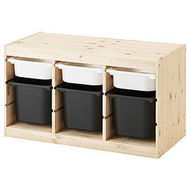 IKEA TROFAST (891.026.32) Шкаф с контейнерами, белый