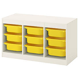 IKEA TROFAST (492.284.69) Шафа з контейнерами, білий, жовтий