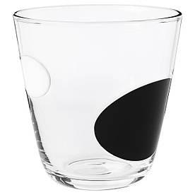 IKEA FABULOS (803.545.92) Келих, чорний, білий