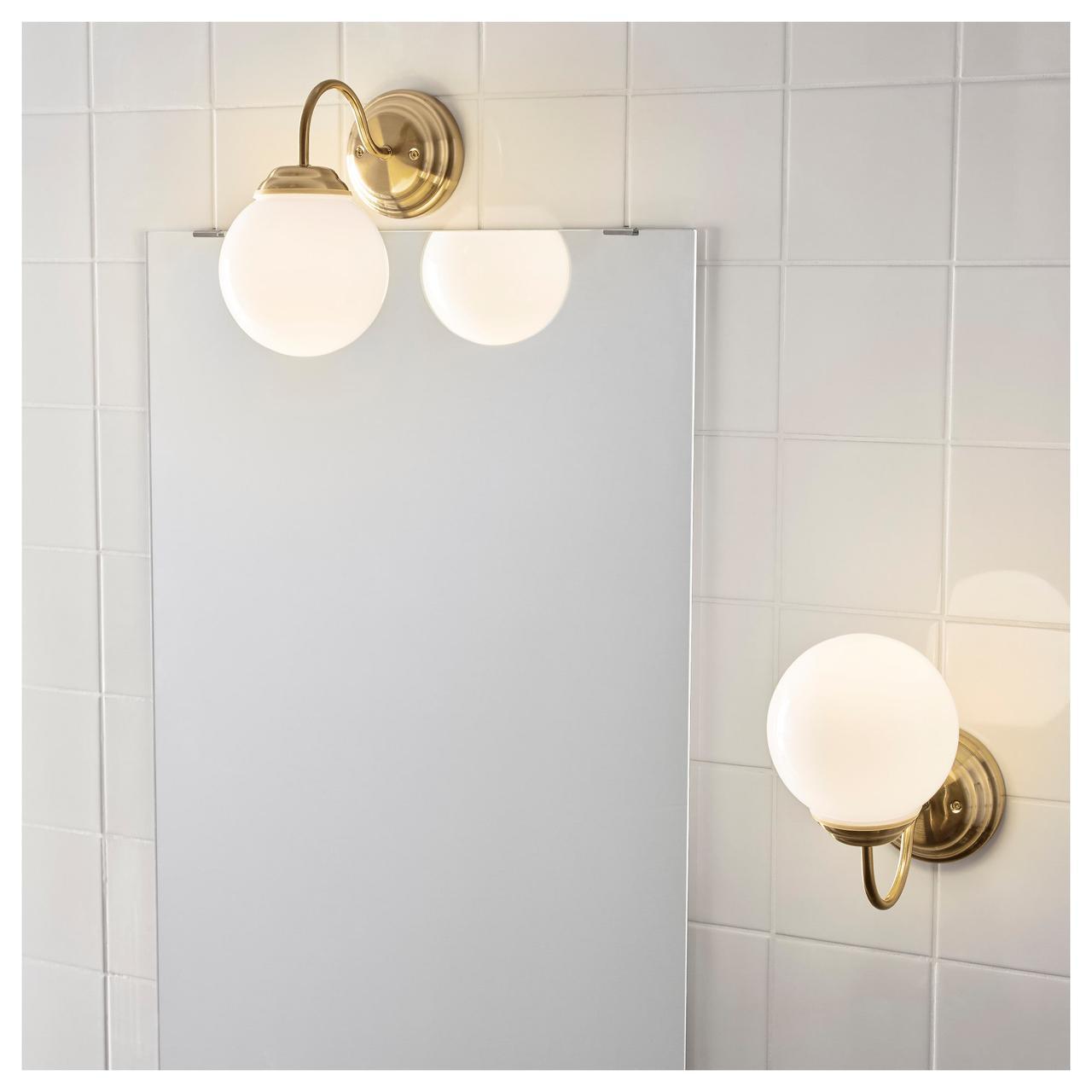 IKEA LILLHOLMEN (903 619 26) Настенный светильник, латунный цвет - Bigl ua