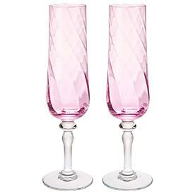 IKEA KONUNGSLIG (503.429.87) Бокал для шампан., розовый