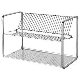 IKEA ORDNING (100.181.94) Сушарка посудна, нержавіюча сталь