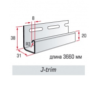 Планка J-trim цвет розовый