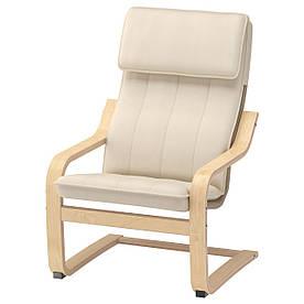 IKEA POANG (393.379.11) Детское кресло, березовый шпон