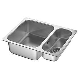 IKEA HILLESJON (491.406.31) 1,5-чашкова Мийка, сплавленная, нержавіюча сталь