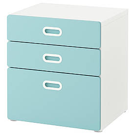 IKEA STUVA / FRITIDS (792.526.55) Комод, 3 ящика, белый, белый