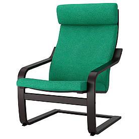 IKEA POANG (792.416.38) Крісло, чорний бриз, Lysed яскраво-зелений
