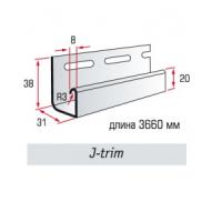"""Профиль J-trim. """"Светло - серый"""". Профили для сайдинга. Планки для сайдинга."""