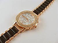 Часы женские наручные Skmei 012871 золото с черным в стразах копия, фото 1