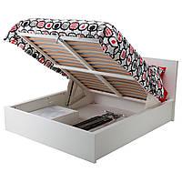 IKEA MALM (902.498.74) Кровать с контейнером, черная