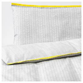 IKEA KLAMMIG (203.731.93) Постільна білизна для ліжка, 3 шт., Сірий