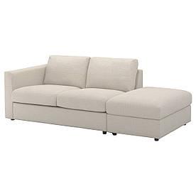 IKEA VIMLE (292.113.37) Трехместный диван, Tallmyra черный/серый