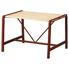 IKEA YPPERLIG (403.486.64) Дитячий стіл, бук, темно-червоний