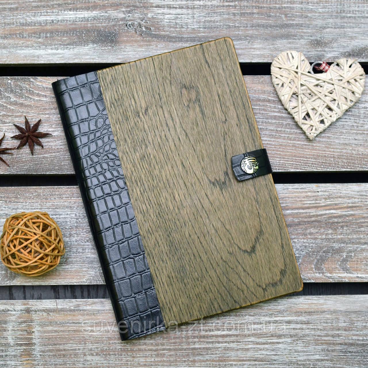 Блокноты с деревянной обложкой. (А00324)