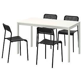 IKEA MELLTORP / ADDE (791.614.86) Стіл і 4 стільця, чорний