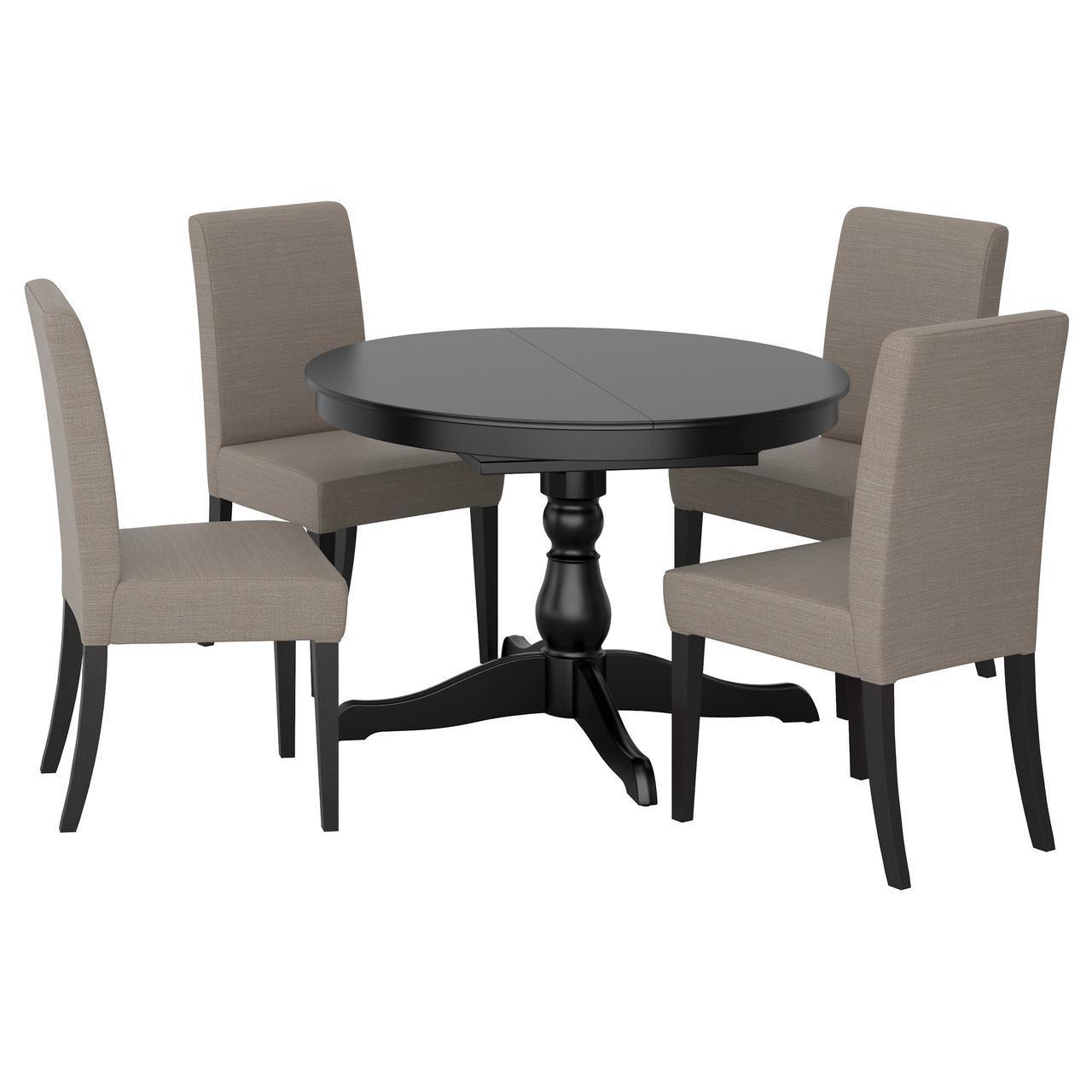 Ikea Ingatorp Henriksdal 691 615 71 стол и 4 стула черный