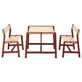 IKEA YPPERLIG (692.600.81) Дитячий стіл з 2 левами