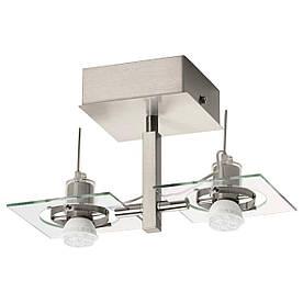 IKEA FUGA (302.626.27) Потолочный/настенный светильник, хром, прозрачное стекло