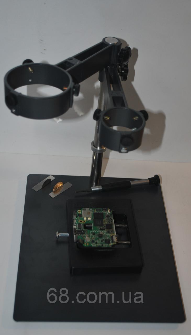 Подставка держатель штатив для фена паяльной станции плат и ребола микросхем Yu jia