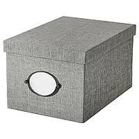 IKEA KVARNVIK (104.128.78) Коробка с крышкой, серый