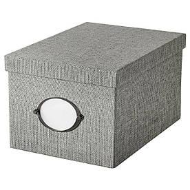 IKEA KVARNVIK (104.128.78) Коробка з кришкою, сірий