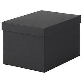 IKEA TJENA (603.954.85) Коробка з кришкою, чорний